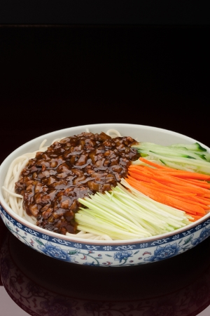 Beijing Style Noodles with Meat Sauce